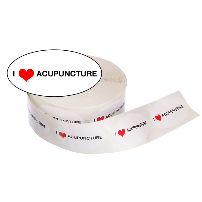 Acupuncture Stickers: I Love Acupuncture